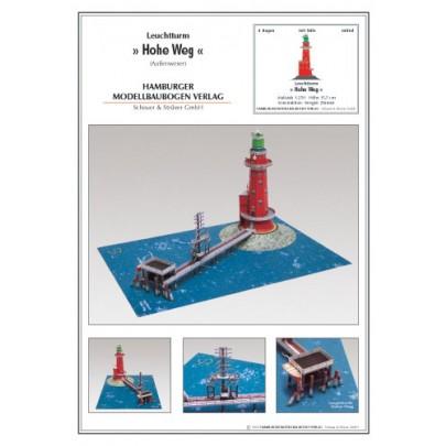 German lighthouse Hohe Weg Aussenweser