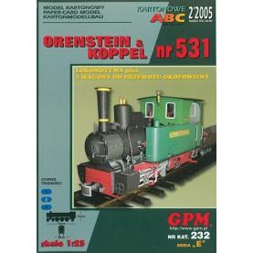 Dampflok Orenstein & Koppel Nr. 531