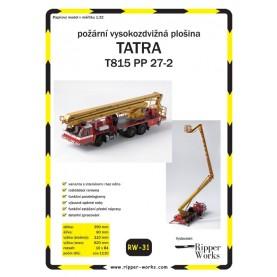 Feuerwehr LKW mit Arbeitsbühne Tatra T185 PP 27-2