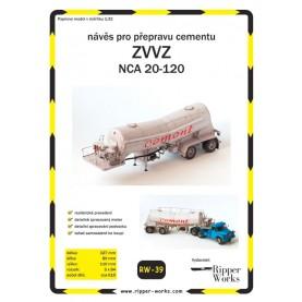 Concrete Semitrailer ZVVZ NCA 20-120